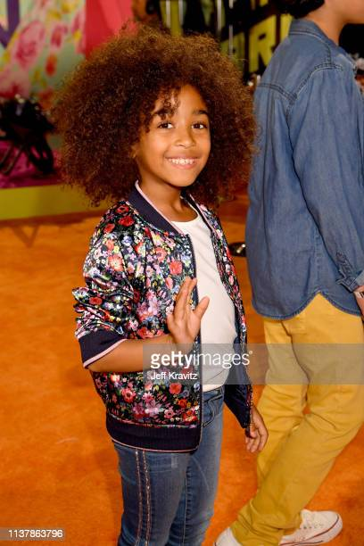 Somali Rose attends Nickelodeon's 2019 Kids' Choice Awards at Galen Center on March 23 2019 in Los Angeles California
