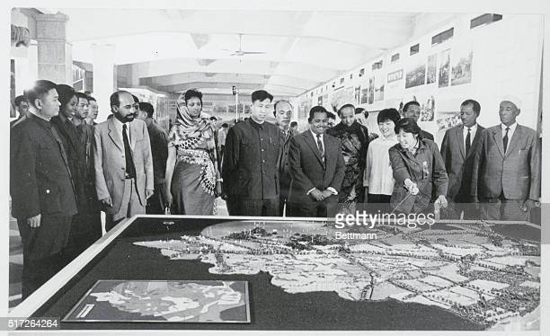 Somali Trade Delegation at Fair Kwangchow China The Somali Trade Delegation viewing a model featuring the rapid agricultural development of Soochow...