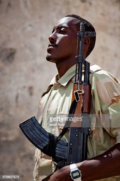 Somali Transitional Government Forces at Villa Somalia in Mogadishu
