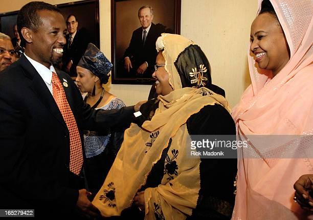 somalia 03/18/07 TORONTO ONTARIO Somalia's Ambassador to the African Union Abdi Karim Farah meets with members of the Somali community at Villa...