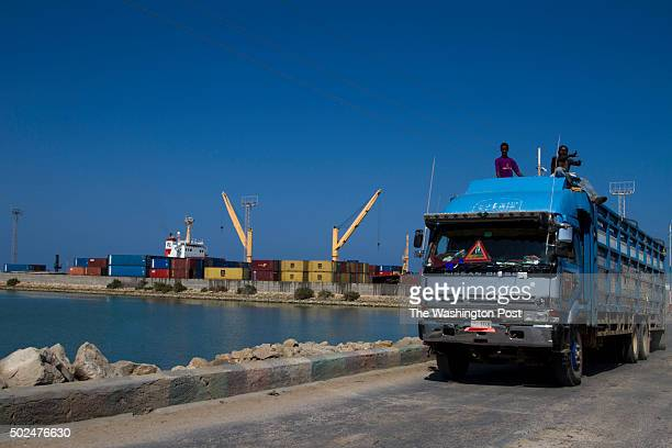 Truck carrying cargo drives through the port of Berbera in the autonomous Somaliland that one day hopes to gain independence from wartorn Somalia