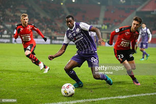 Somalia of Toulouse during the French Ligue 1 match between Rennes and Toulouse at Roazhon Park on November 25, 2016 in Rennes, France.