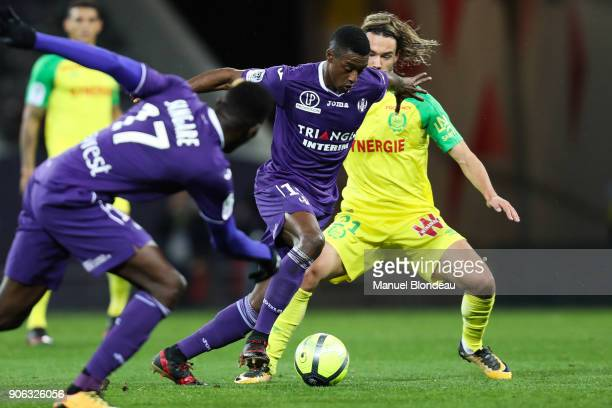 Somalia of Toulouse during the Ligue 1 match between Toulouse and Nantes at Stadium Municipal on January 17 2018 in Toulouse