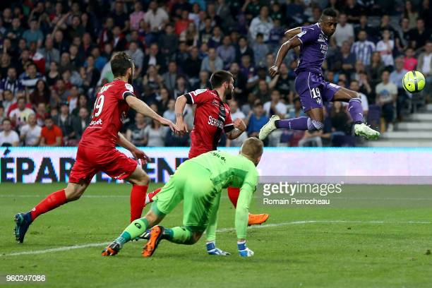 Somalia of Toulouse in action during the Ligue 1 match between Toulouse and EA Guingamp at Stadium Municipal on May 19 2018 in Toulouse