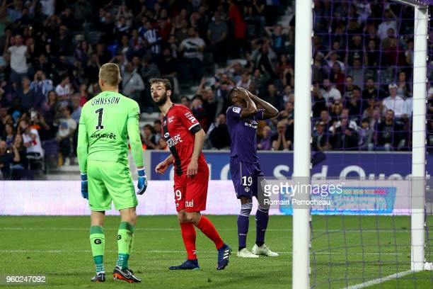 Somalia of Toulouse reacts during the Ligue 1 match between Toulouse and EA Guingamp at Stadium Municipal on May 19 2018 in Toulouse