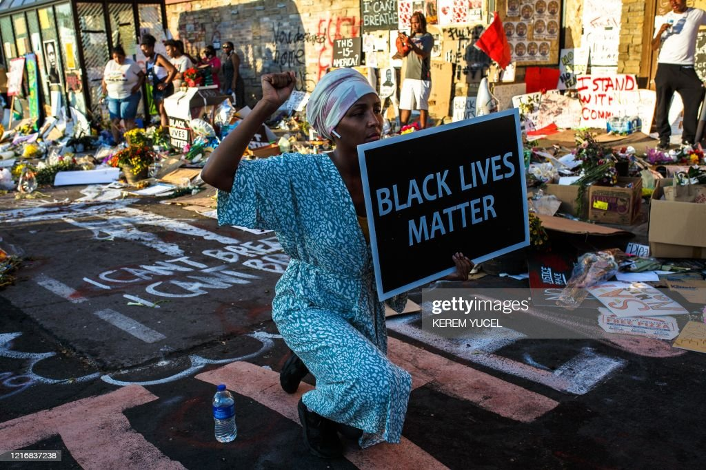 TOPSHOT-US-POLITICS-POLICE-RACE-UNREST-DEMONSTRATION : News Photo