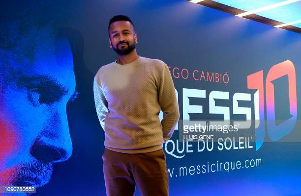 Somalian dancer and choreographer Mukhtar O S Mukhtar poses during the world presentation of Cirque du Soleil latest show 'Messi 10' directed by...