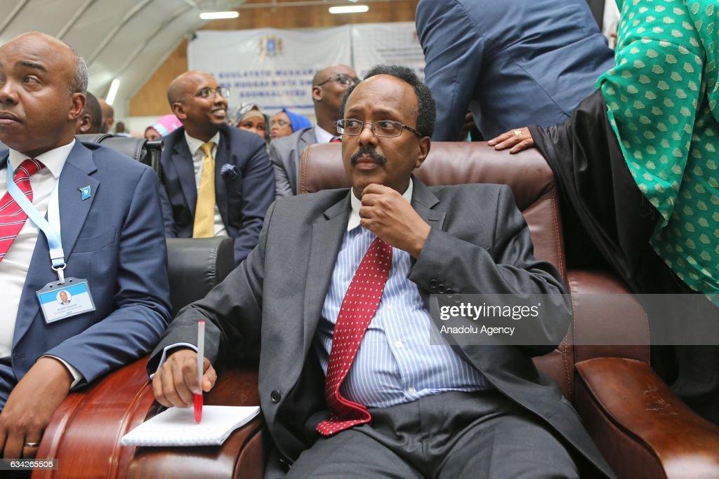 Somalian new President Mohamed Abdullahi... : News Photo