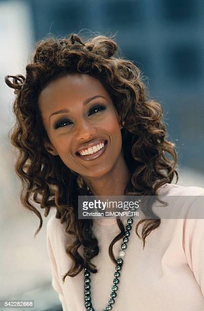 Somalianborn American supermodel Iman wife of British pop star David Bowie