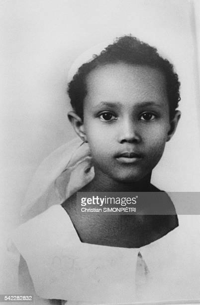 Somalianborn American supermodel Iman wife of British pop star David Bowie as a child