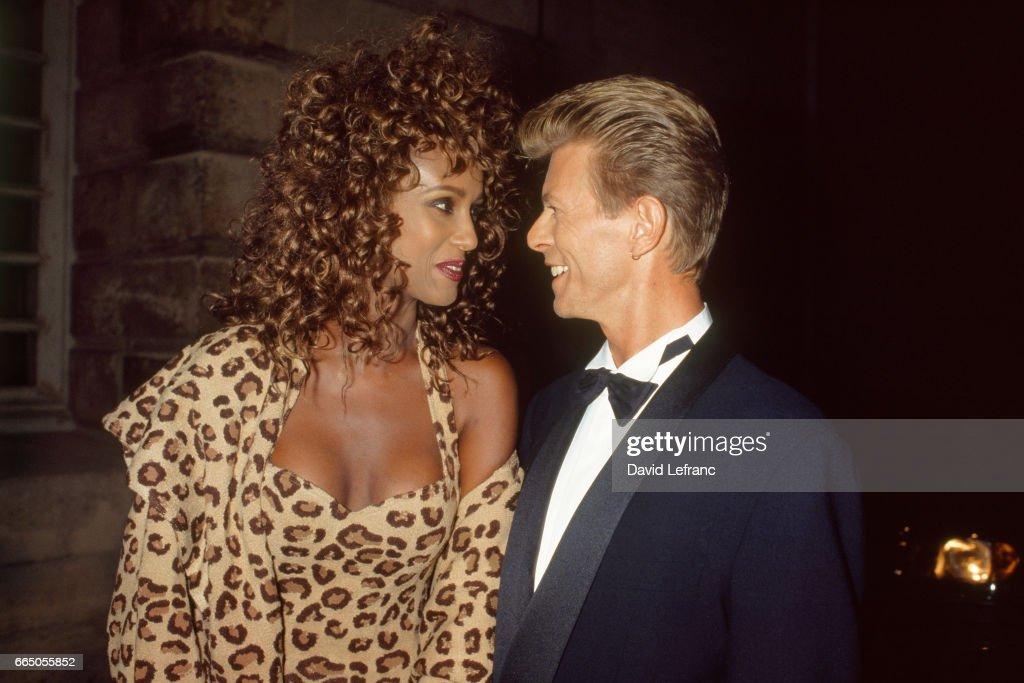 Iman with David Bowie : News Photo