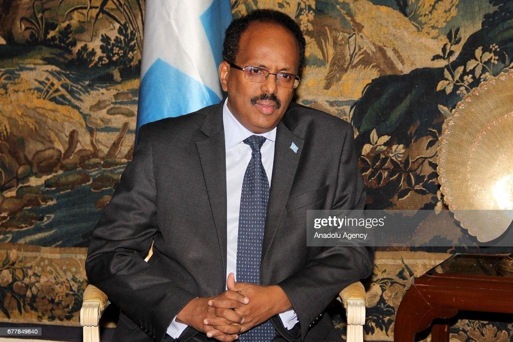 Somalia's President Mohamed Abdullahi Farmajo in Ethiopia : News Photo