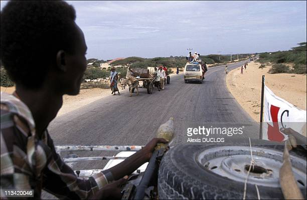 Somalia's Suffering On January 1st 1992 Mogadiscio Soldier Protecting CICR Convoy
