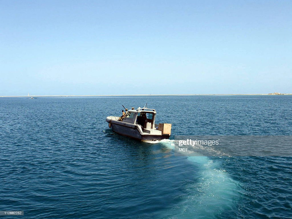 A Somaliland coast guard boat on patrol in the Gulf of Aden