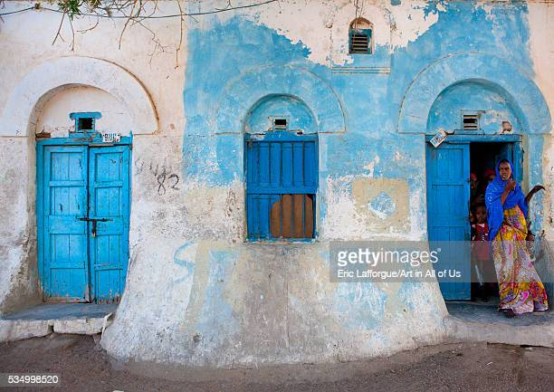 Somaliland Horn Of Africa Berbera people outside a former ottoman house