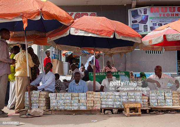 Somaliland Horn Of Africa Hargeisa wads of money changers on their stall