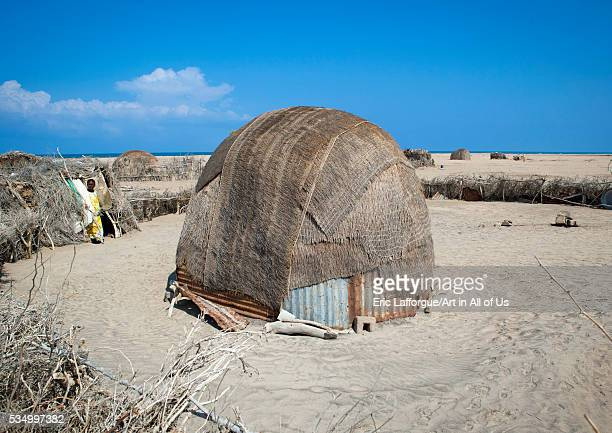 Somaliland Horn Of Africa Lughaya a somali hut in the desert