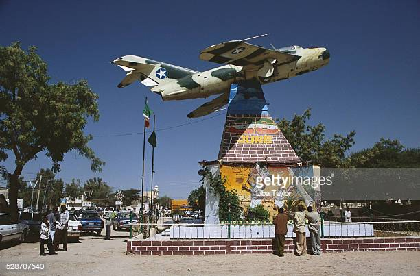 Somaliland War Memorial with Plane and Paintings