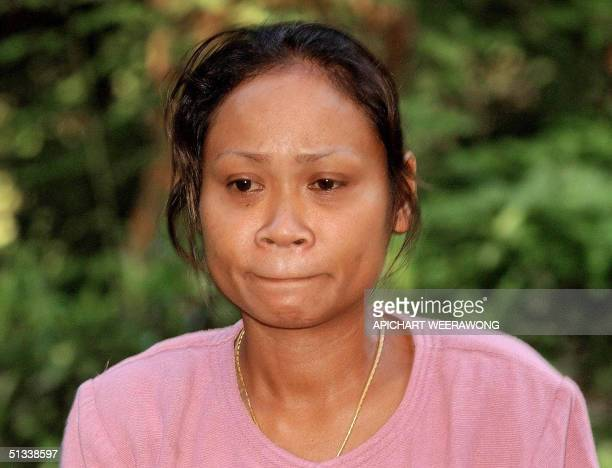 Sombat Bigley the Thai wife of British hostage Kenneth Bigley appeals for her husband's life during a taped television statement 23 September 2004 in...