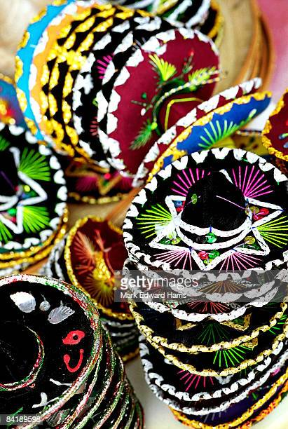 sombreros - playa del carmen stock pictures, royalty-free photos & images