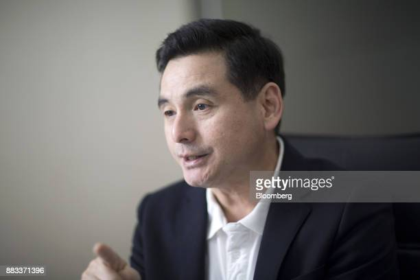 Somchai Lertsutiwong chief executive officer of Advanced Info Service Pcl speaks during an interview in Bangkok Thailand on Wednesday Nov 29 2017 AIS...