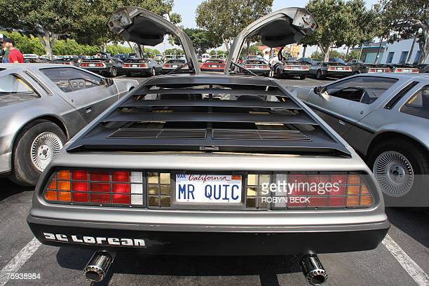 Some 100 DeLorean cars from around the US southwest are gathered at Universal Studios Hollywood in University City California 02 August 2007 for a...