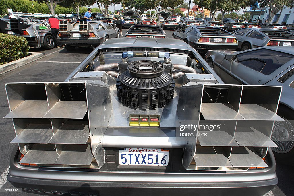 Some 100 DeLorean cars from around the U Pictures | Getty Images