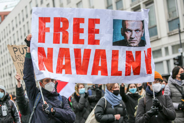 DEU: Supporters Of Alexei Navalny Gather In Berlin, Demand His Release From Russian Prison
