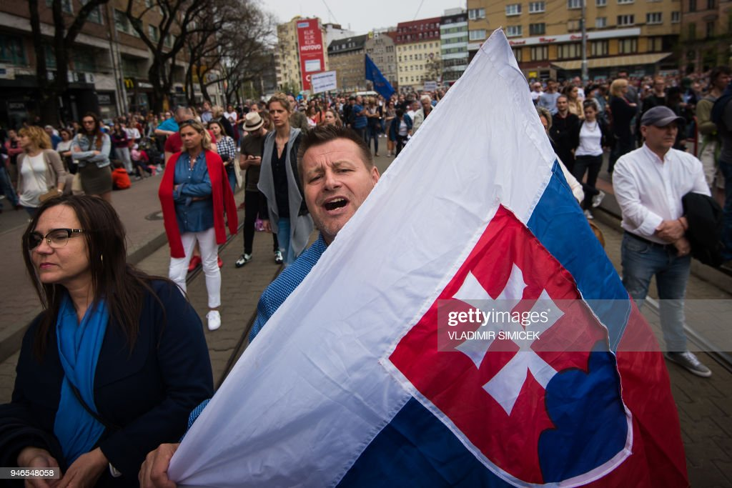 SLOVAKIA-PROTEST-CRIME-JOURNALIST : News Photo