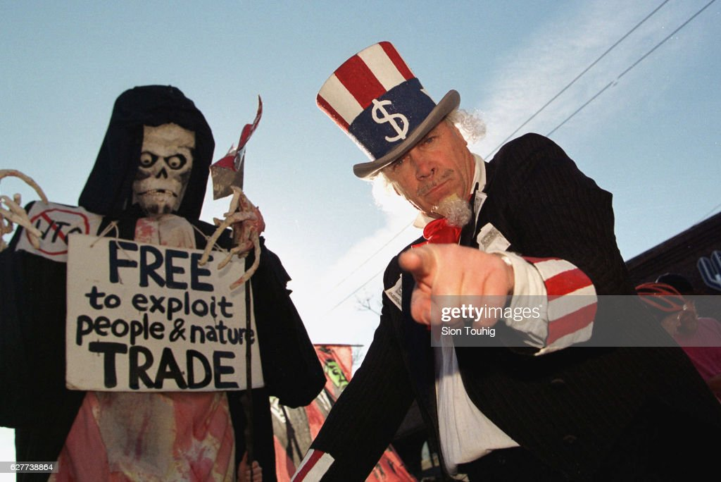 ANTI-WTO DEMONSTRATION IN SEATTLE : News Photo