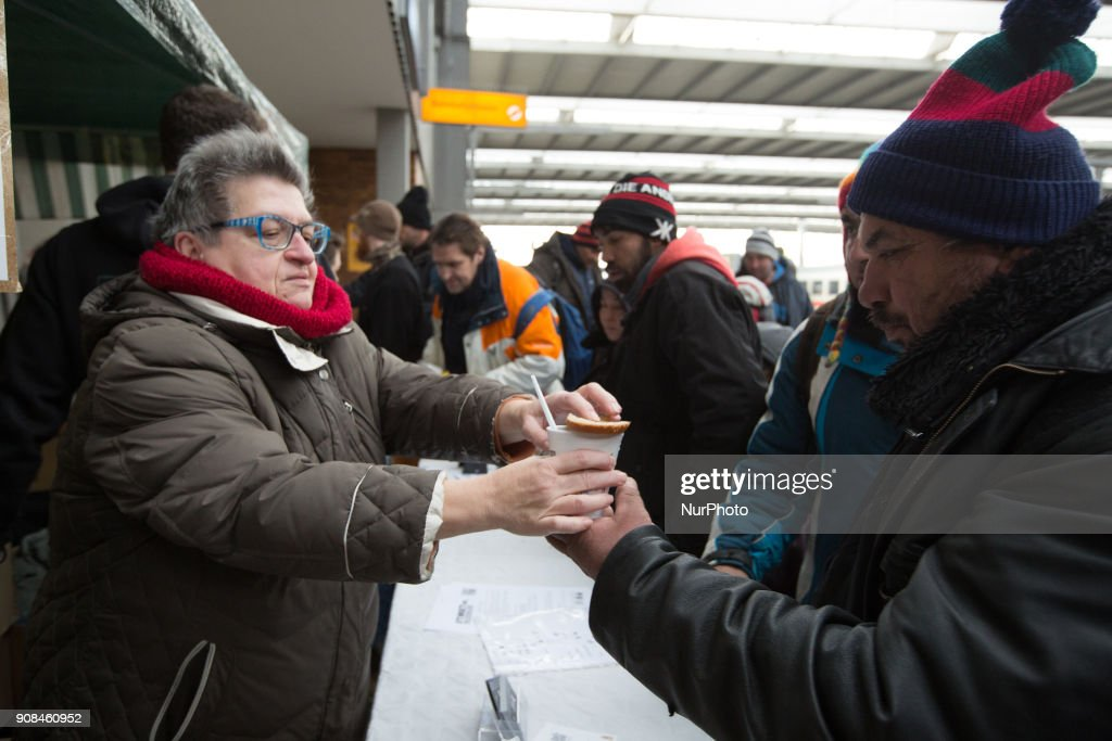 Anonymous activists helping the homeless in Munich