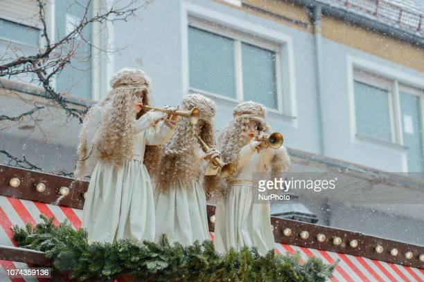 Some Angels playing some music The worldfamous Christmas Market of Nuremberg was full of people even if there was heavy snowfall and cold