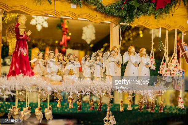 Some Angels singing Christmas Market in the Bavarian city of Augsburg It is placed next to the town hall