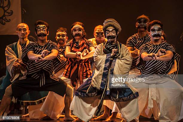 Some artists perform a theater of Mahabharata Kurukshetra War in Yogyakarta Indonesia on September 23 2016 Mahabharata is an international project...