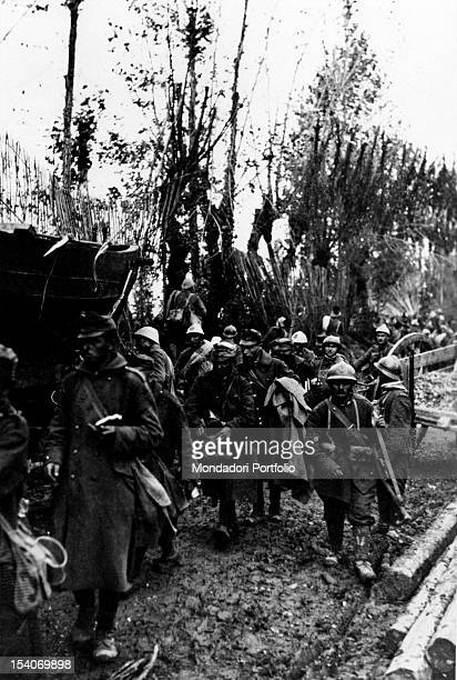 Some Austrian soldiers have been captured by the Troops of the Entente in the area between Oderzo and Conegliano. Treviso, October 1918