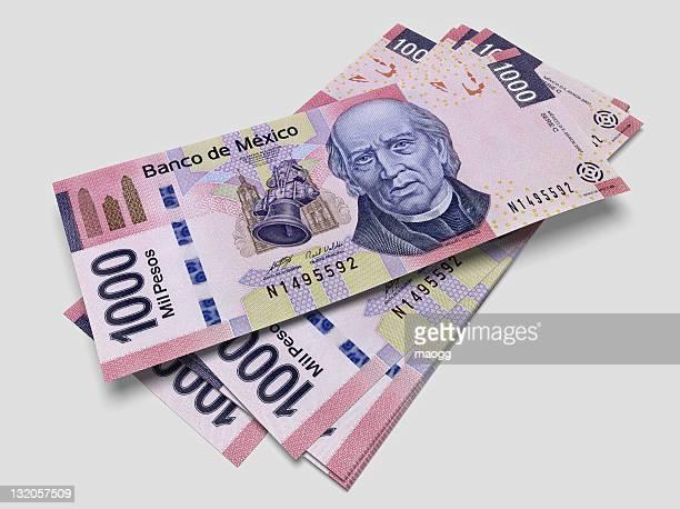 algunas de las listas de mil pesos mexicanos - mexico fotografías e imágenes de stock