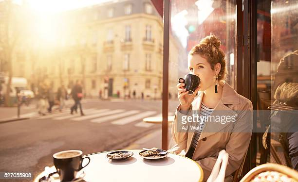 Some coffee to fuel her contemplation