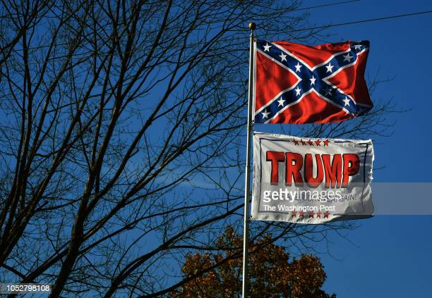 """Some Confederate flag representations are being seen more often these days because of what has been labeled, """"The Trump Effect."""" Flying the flag in..."""