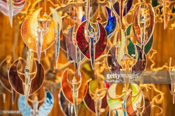 Some decoration made of glass Christmas Market in the Bavarian city of Augsburg It is placed next to the town hall