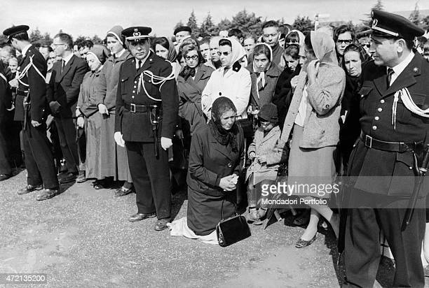 Some faithful gathering at the Sanctuary of Fatima on the occasion of the 50th anniversary of the Marian apparitions Fatima May 1967