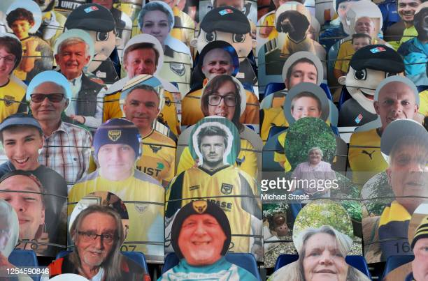Some famous faces including David Beckham among the cardboard cut fans in the seats during the Sky Bet League One Play Off Semifinal 2nd Leg match...