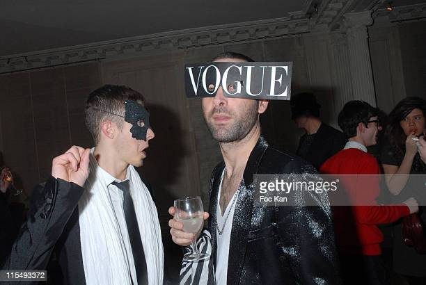 Some Guests at the Ellen Von Unwerth and Bridget Yorke Masked Birthday Party in a Private Flat Rue Francois 1er on February 01 2008 in Paris France