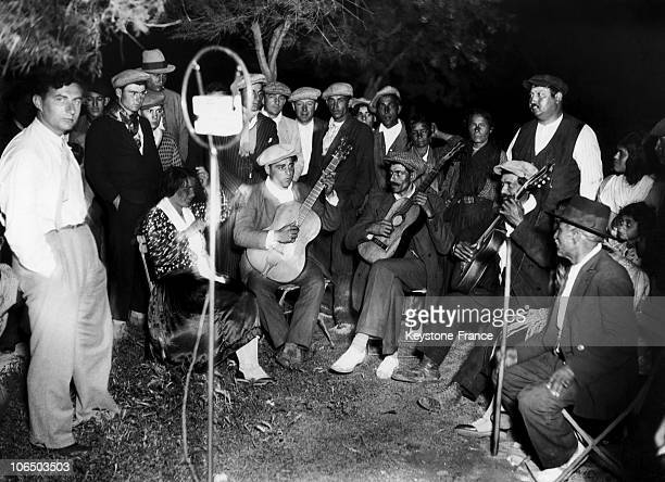Some Gypsies Playing Music In Arles Around 1932