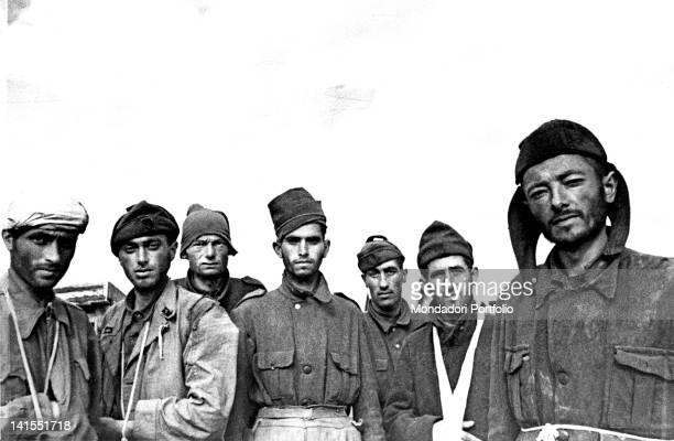Some Italian soldiers of the 'Sforzesca' Division have been captured by the Russians near Stalingrad, present Volgograd. Stalingrad, 1942
