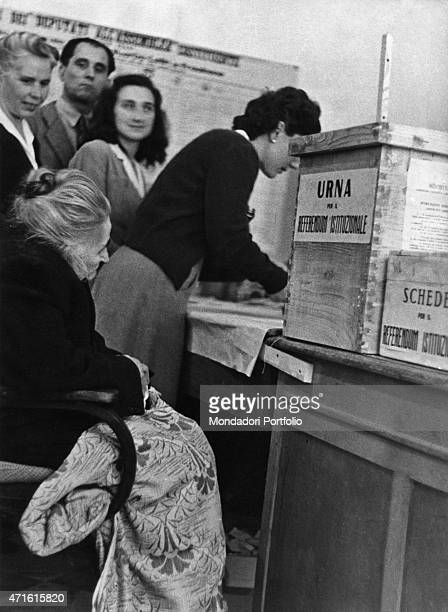 """""""Some Italian voters waiting for voting the constitutional referendum to choose between monarchy and republic. Italy, 2nd June 1946 """""""
