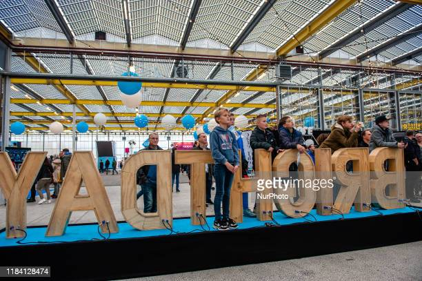 Some kids are watching Royalistiq playing live during the Bright Day Festival in Amsterdam on November 23rd 2019