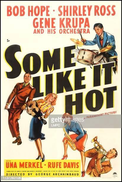 Some Like It Hot poster US poster art top Gene Krupa bottom from left Bob Hope Shirley Ross Una Merkel Rufe Davis 1939