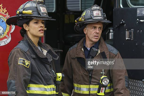 FIRE 'Some Make It Some Don't' Episode 509 Pictured Miranda Rae Mayo as Stella Kidd David Eigenberg as Christopher Herrmann