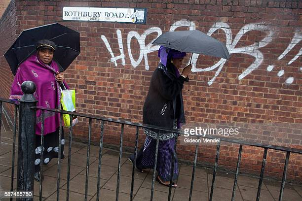 Some members of the over 60s womens group at the Mountain of Fire and Miracles Ministries Church depart from the old factory building that houses the...