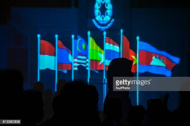 Some of delegates from ASEAN attending an event ASEAN Railways Ceo's Conference in Royal Ambarukmo Hotel Yogyakarta Indonesia on October 18 2016 The...